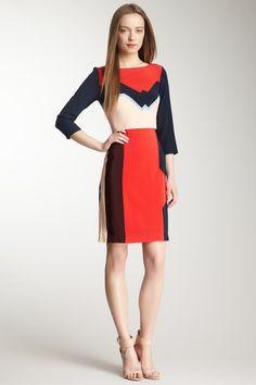 Lola Silk 3/4 Sleeve Dress