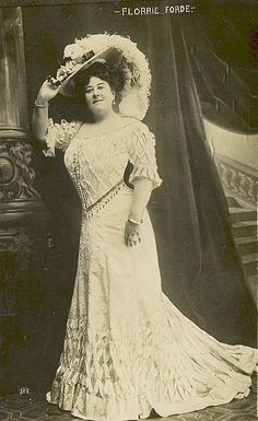 Florrie Forde, Singer and Film (Movie) Star - (1875-1940). Born   in Australia. Real name was Flora May Augusta Flannagan. May only  have appeared in one film - 'My Old Dutch'.