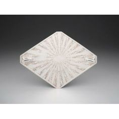 """""""Sunray"""" tray, designed c. 1928, Weidlich Brothers Manufacturing Company, silverplate, Dallas Museum of Art, The Jewel Stern American Silver Collection, gift of Jewel Stern"""