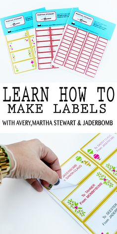 How to make Printable Labels via Jaderbomb