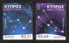 Cyprus Stamps SG 1188-89 2009 Europa Astronomy - MINT. Price £1.80