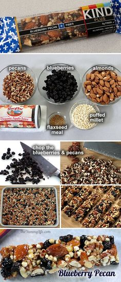 homemade kind bars, blueberry kind bars, granola bars, homemad kind, kind bars recipe