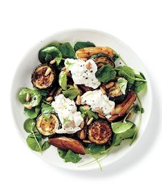 Roasted Zucchini, Potato, and Burrata Salad recipe from realsimple.com #myplate #vegetables