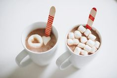 hot cocoa, cute marshmallows and Sucre Shop spoons