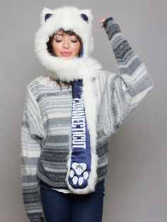 Team SpiritHoods: Are You A Fanimal? UCONN Traits: Brave > Adventurous > Loyal.  The Husky spirit embodies spiritual well-being, resilience, and the ability to survive and guide others. Huskies are athletic, loyal, and have immense determination. $89 https://spirithoods.com/teams/womens/connecticut/1463/# #Fashion #Sports #College #Gifts #School #Spirit #Football #Fanimal #SpiritHood #SpiritHoods #Hoodie #Hat #Paws #Scarf #Team #UConn #Husky #University #Women #InnerAnimal