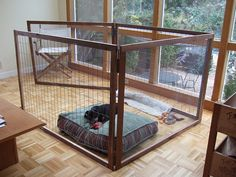 Homemade Dog Pen by Earthworm, via Flickr...we can buy the same type of fencing and make a large pen for Tiger in back yard. Use the storage shed as his dog house.