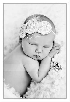 Newborn Vintage Inspired Headband - newborn session