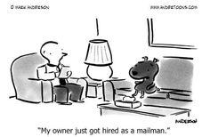 dog cartoon, dogs, offic funni, dog humour, job