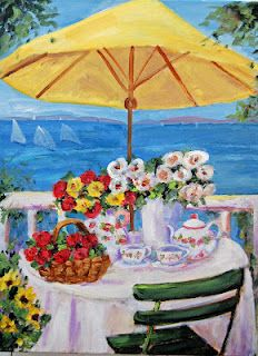 Tea By The Sea...UK Cancer Awareness Poster