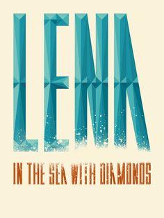 Lena in the sea with diamonds - easlinn