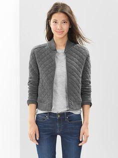 gap fall, quilt bomber, bomber jackets, knit bomber, quilt knit