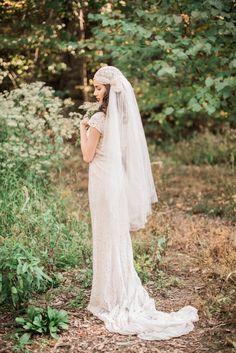 1930s Trained Lace Wedding Dress by ShopGossamer on Etsy, $389.00