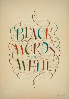 Black words on white by Martina Flor, via Behance