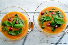 Carrot-Orange Soup with Basil Oil