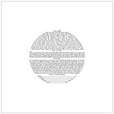 DIY  - Circular Text on Square Background