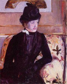Mrs. Gardner Cassatt in Black, 1880  Mary Cassatt