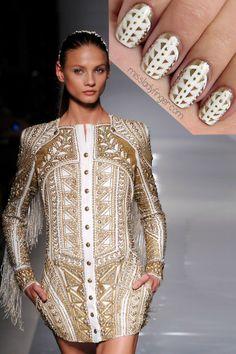 Balmain SP'12 nails  #nail #unhas #unha #nails #unhasdecoradas #nailart #gorgeous #fashion #stylish #lindo #cool #cute #fofo #balmain