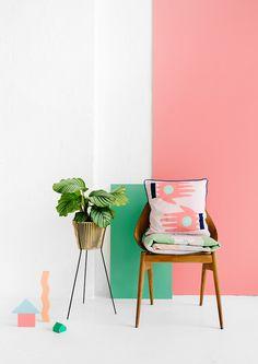 interior design, home colors, pastel, chair, plant holders, plant pots, pot plants, design file, colorful design style