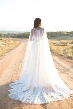 Gorgeous bridal cape