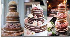 nake cake, wedding cakes