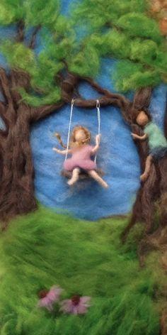 Waldorf Seasons Needlefelt Wool Painting by ClaudiaMarieFelt
