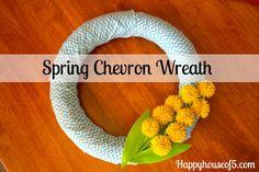 Spring Chevron Wreath @5happyhouse