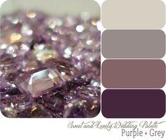 purple + grey wedding color palette