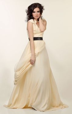 Eve Silk Chiffon Draped Gown by reddoll on Etsy. $850.00 #silk #dress #wedding #formal #fashion #handmade #indie