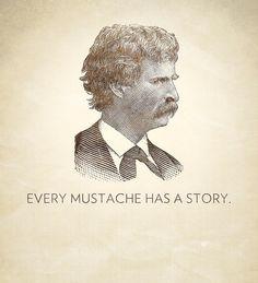 Every Mustache Has A Story Mark Twain 12 x by FakeMustachePatrol, $12.50
