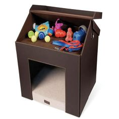 Foldaway Dog House has a top shelf for treats and toys, and collapses into an easy-to-carry bag. PLEASE make this is large dog size!
