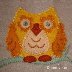 Applique Block - Woodland Owl | Wee Folk Art