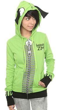 I want this hoodie!!! geek, fashion, invad zim, stuff, style, cloth, gir hoodi, thing, hot topic