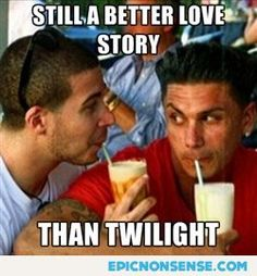 Haha I like Twilight but this is too funny to pass up! Love Vin and Pauly!