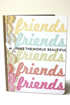 Friends Make The World Beautiful Card by Heather Nichols for Papertrey Ink (January 2014)
