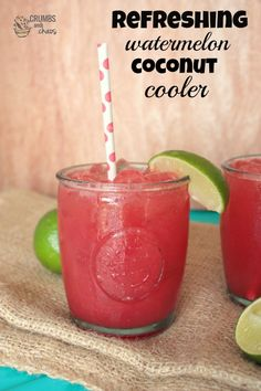 Refreshing Watermelon Coconut Cooler | Crumbs and Chaos