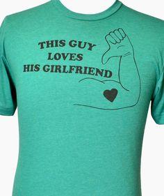 This Guy Loves His Girlfriend Mens T Shirt Anniversary Gift Valentines Wedding Gift for Boyfriend