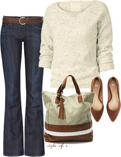 so comfy!! jean, sweater, casual fall, bag, fall outfits, comfy casual, casual fridays, casual outfits, shoe