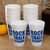 Don't miss any opportunity to show off some team pride at your next tailgate with this 10-pack of fun foam cups. #RockChalkJayhawk #UltimateTailgate #Fanatics