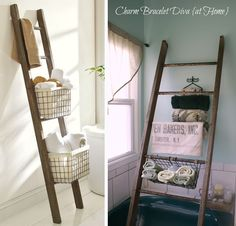 This Pottery Barn storage ladder costs $279. | 35 Money-Saving Home Decor Knock-Offs