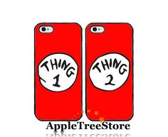 Thing one and Thing two Phone Case Matching Phone Case Lover Case Lover Phone Case For iPhone4/4s iPhone5/5s/5c Galaxy s3 Galaxy s4 on Etsy, $14.36 AUD