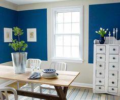 cobalt blue, blue home