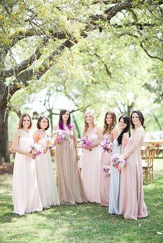 soft bridesmaids dresses.