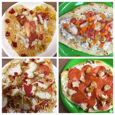 No-bake pizzas made