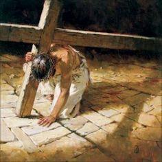 The crucifixion of Jesus.