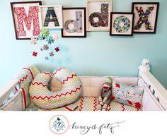DIY Nursery Name Collage