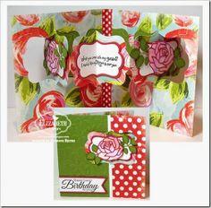 Frances Byrne using the Pop it Ups Katie Label Pivot Card die by Karen Burniston for Elizabeth Craft Designs. Also uses the ECD Rose die. - CCEE1424Roses1-wm