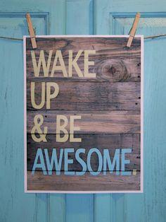 Wake Up Awesome