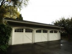 Arched garage doors from 1926 Olympia, Washington Cottage