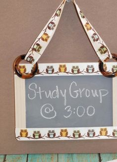 How cute is this DIY Owl Chalk Board? We love this for reminders and fun notes!