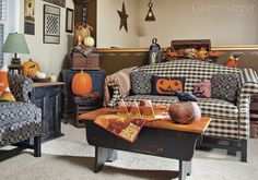"From our September 2014 issue: In ""Homeward Bound,"" a New York couple build a new house and infuse it, inside and out, with country charm and reimagined furnishings. (Photographed and styled by Franklin & Esther Schmidt) • Preview the issue: http://www.countrysampler.com/issues/detail.php?issue_code=C0914"